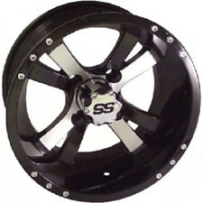 (1) Golf Cart 10 inch Machined and Black Twister Wheel With 3:4 Offset