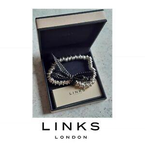 Genuine origional Links of London silver 925 sweetie charm bracelet 18cm in box