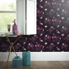Arthouse Euphoria Floral Plum Flowers Bloom Purple Wallpaper 697500