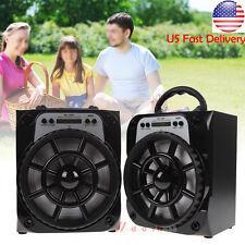 Portable Outdoor Bluetooth Wireless Loud Speaker Super Bass USB/AUX/FM Amplifier