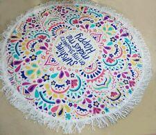 Bohemian Tassel Shawl Beach Towels Mat Round Printed Beach Tapestry Wraps Scarf