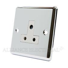 CROMATO LUCIDO CLASSICA Round Pin 5 Amp Socket-cpc5asocwh