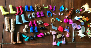 Vintage Barbie Doll Lot of Boots, Shoes, Purses Bags, Accessories 65 items total