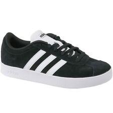 c2f1b4685995a3 adidas VL Court 2.0 Black Suede Athletic Kid Sport Shoes DB1827 Sz 3
