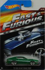 Movie Fast & Furious 72 ford gran torino Sport 1:64 Hot Wheels EE. UU.