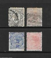 1882 Queen Victoria  5d. to  1/-  Collection of 4 stamps  used New Zealand