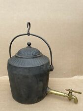 More details for t holcroft & sons 3 gallon hanging kettle gypsy open fire cast iron