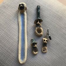 HANDMADE BUNDLE 2 Smoking Pipes, Incense Burner, Roach Clip UNIQUE GIFT