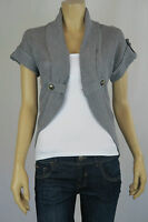 Crossroads Ladies Short Sleeve Curved Cardigan sizes 12 14 Colour Grey Marle
