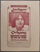 Jackson Browne Concert Poster Uncut Randy Tuten Signed Oakland 1976
