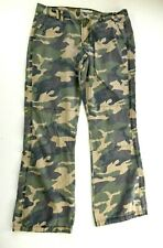 Tommy Jeans Womens Juniors Green Camo Camoflage Jeans Pants Size 13