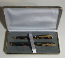 Reform Fountain Pen And Mechanical Pencil Chinese Lacquer Set vERY Rare Vintage
