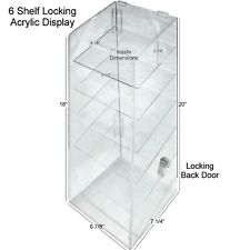 Hi Quality Clear Acrylic Retail Display Case 6 Shelf Withdbl Security Lock Usa