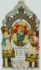 Votivkarte, Votivbild m. Mariendarstl., Jesuskind u. Engeln, 19. Jhd.