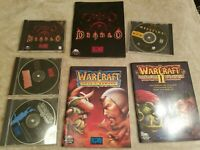 Vintage Blizzard PC Cdrom Game Lot Diablo Hellfire Expansion Warcraft I and II