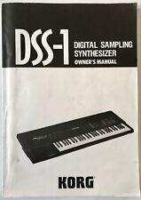 Korg DSS-1 digital sampling synthesizer original operation owner's manual