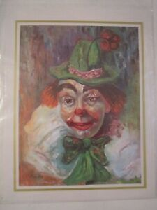 """LOT OF 3 CLOWN PRINTS BY MICHELE - 8"""" X 10"""" - IN PLASTIC SLEEVES - LOT 3"""