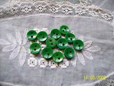 12 Small Green 1940's  Plastic  Buttons -Dolls/Quilting