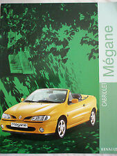 Renault Megane Cabriolet brochure Jan 1999 Dutch? text