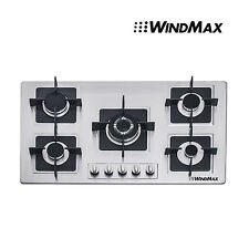 """Brand 35.5"""" Stainless Steel Built-in 5 Burner Stove Gas Hob Cooktop Cooker Top"""