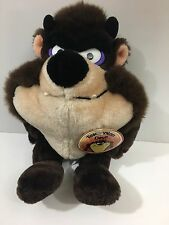 "Warner Brothers Tasmanian Devil Plush Stuffed Animal Toy 1990 New 11"""