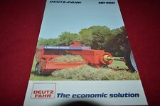 Deutz Fahr HD 460 Hay Baler Dealer's Brochure BWPA