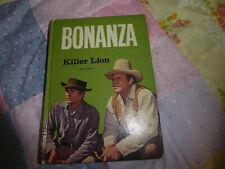 VINTAGE BONANZA LITTLE JOE HOSS BOOK 1966 KILLER LION
