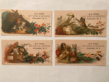 Four Trade Cards, Peacedale (Wakefield) RI, H&C Dixon Dry Goods & Groceries