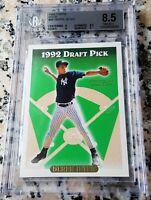 DEREK JETER 1993 Topps SP GOLD Rookie Card RC BGS 8.5 9 RARE NY Yankees HOF