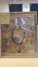 Tiny Ideas Baby's First Year Keepsake Picture Photo Frame Silver
