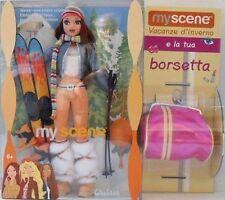 BARBIE MY SCENE - CHELSEA INVERNALE SCI E BORSETTA - ORIGINALI MATTEL C1587