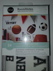 SPORTS WALL STICKERS Football Basketball Soccer Ball Baseball Decals
