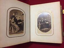 Circa 1863 Civil War CDV Album w 28 Photos ABE LINCOLN US Grant Soldiers & BLACK