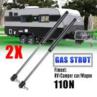 2X Campervan Caravan Gas Locker Spring Strut 110N Universal Support Arm