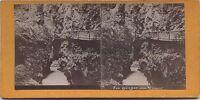 Los Gargantas Del Trient Suizo Foto Estéreo Vintage Albúmina Aprox 1880