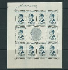 BRAZIL 1938 VARGAS souvenir sheet (Scott 466) no gum as issued VF MNH