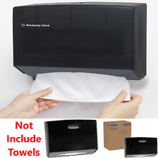 Paper Towel Dispenser Wall Mount Scott Fold Tissue Holder Rectangular Box Black