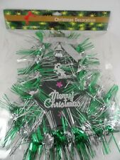 NIP Merry Christmas Glittered Green & Silver Bell Party/ Christmas Decoration