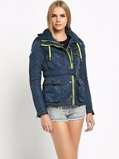 New with Tags Ladies Superdry Quilted Trials Hooded Jacket UK Small RRP £114.99