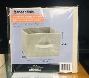 Essentials Collapsible Storage Container 11 x 10.5 x 10.5 inches. A+Seller