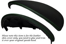 GREEN STITCH SPEEDO HOOD LEATHER COVER FITS FIAT PUNTO GRANDE ABARTH EVO 10-14