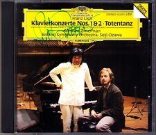 Krystian ZIMERMAN Signiert LISZT Piano Concerto 1 & 2 Totentanz Seiji OZAWA CD