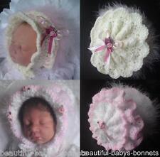 CROCHET PATTERN by Beautiful-Babys-Bonnets for 2 Vintage Style Hats 0-3-6m  #16