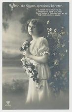 AK Wenn die Rosen sprechen könnten - junge Dame (E891)