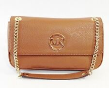 NWT MICHAEL Michael Kors Fulton Small Shoulder Flap Leather Bag Acorn Brown