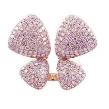 3.95ct Natural Argyle 6pp Fancy Pink Diamonds Engagement Ring 18K Gold Butterfly