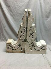 Two  Antique Victorian Gingerbread Roof Corbels Shelf Brackets Vtg 101-19J