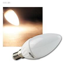 5 LED-Kerzen-Lampen E14, warmweiß, 400lm, Leuchtmittel Birne E-14 230V Glühbirne