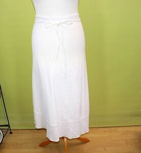 M&S skirt White Ladies 55% linen Lined Summer Holiday beach Size 14   22g
