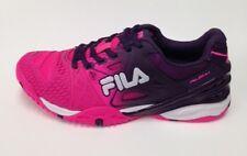 New Womens Tennis Shoes Fila Cage Delirium Knockout Pink/Purple/White Size 7.5